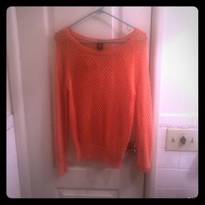 Bebe coral knit sweater